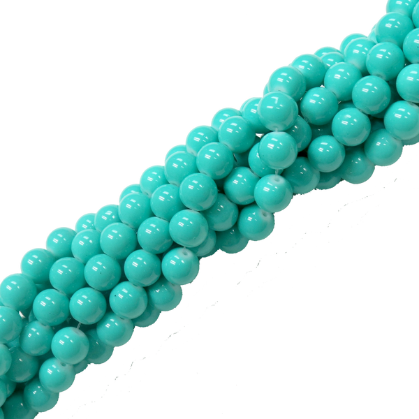 Glass Pearl- Green/Turquoise