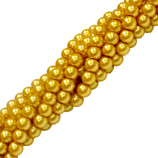 Glass Pearl- Gold