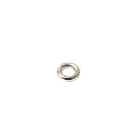 Jump Ring Closed, Sterling Silver, Gauge 20, 5mm; 1 piece