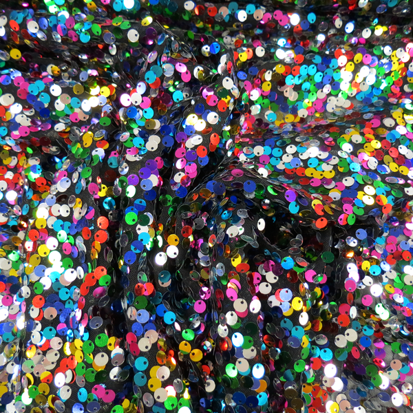 "Dream, Sequins, Black, 54"" Wide- 1 Yard"
