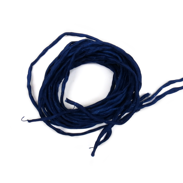 "Silk Cord, Navy Blue, 39"" Long; 1 piece"