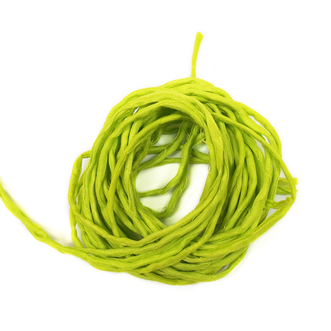 "Silk Cord, Neon Green, 39"" Long; 1 piece"