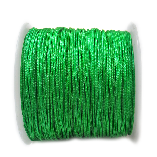 Nylon Cord, 1mm-Emerald; 60 yards