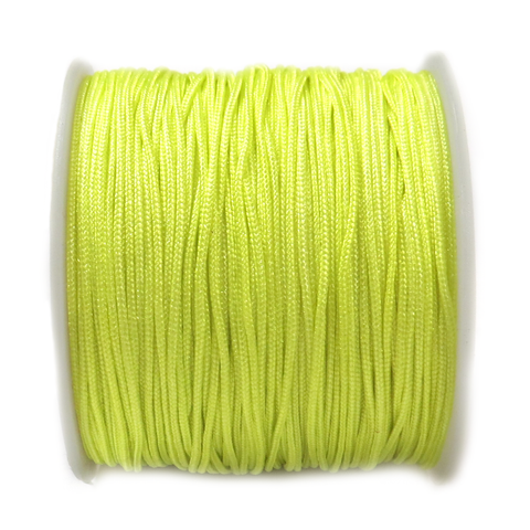 Nylon Cord, 1mm- Neon Green; 60 yards