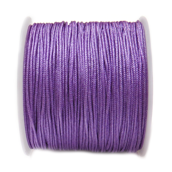 Nylon Cord, 1mm-Violet; 60yards