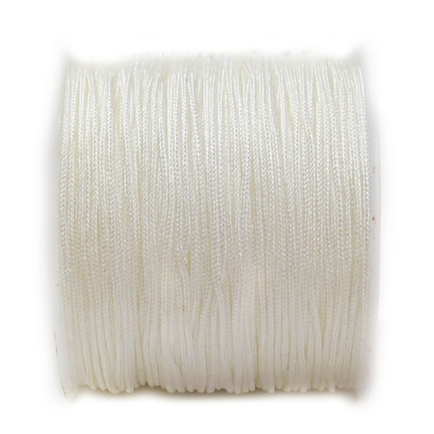 Nylon Cord, 1mm - White; 60 yards