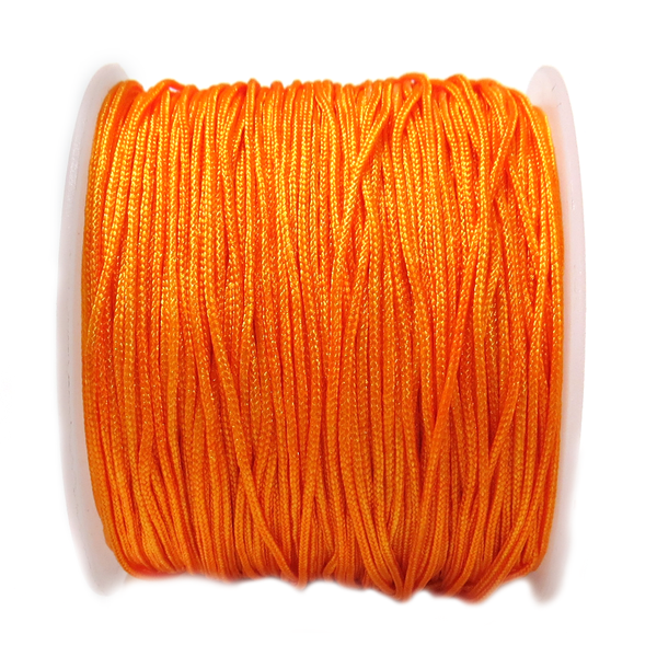 Nylon Cord, 1mm-Orange; 60yards