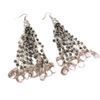 Kritshy Earring with Pearls, Gray, 3 inches - 1 piece