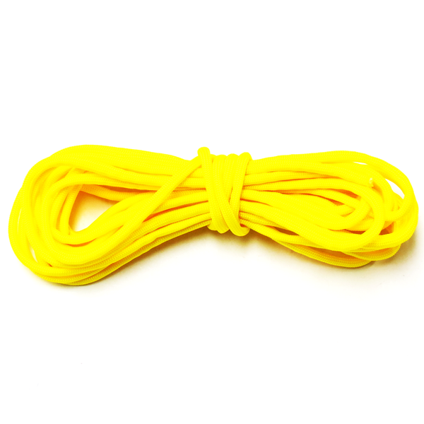 Yellow Parachute Cord 550- 4mm diameter; 16ft