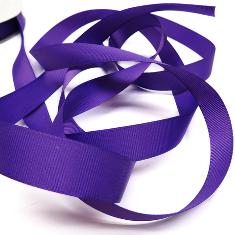 "Purple - Grosgrain Ribbon, 3/4"" - 1 Yard"