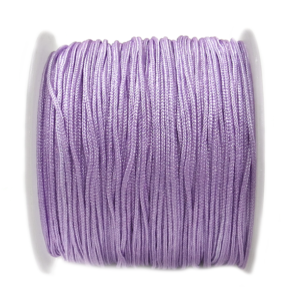 Nylon Cord, 1mm- Purple Light; 60yards