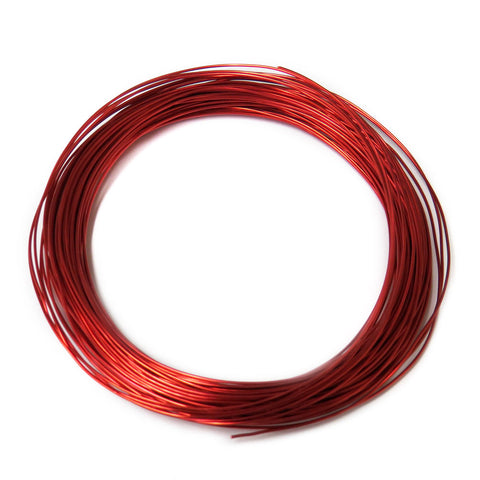 Aluminum Wire, Red, 2mm, 5 yard roll; 1 roll