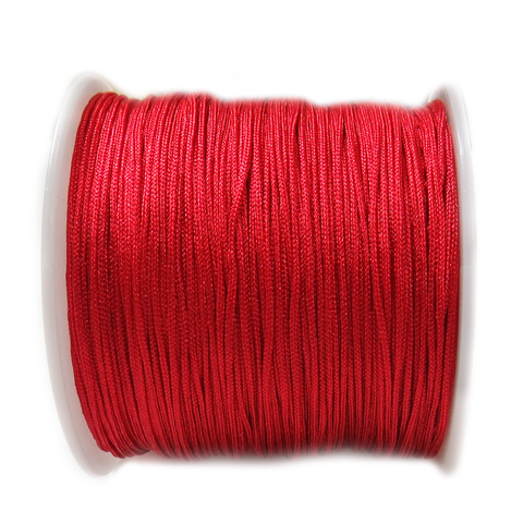 Nylon Cord, 1mm- Red; 60yds