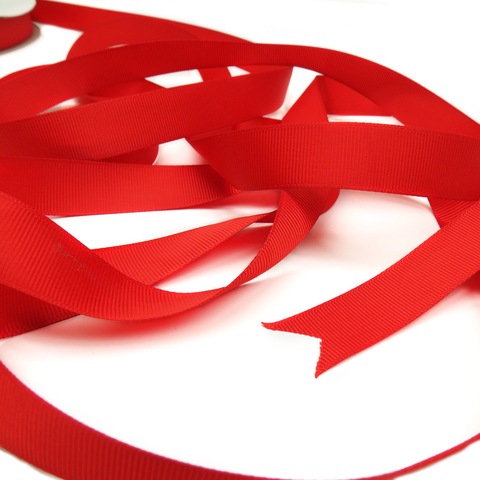 "Red - Grosgrain Ribbon , 3/4"" - 1 Yard"