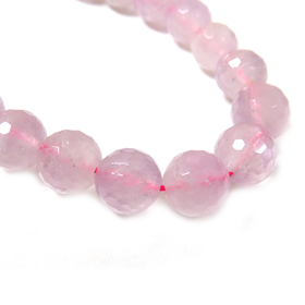 Rose Quartz Faceted Bead, 12mm - 1 strand