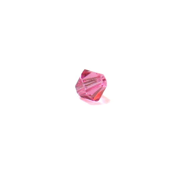 Swarovski Crystal, Bicone, 4mm - Rose; 20 pcs