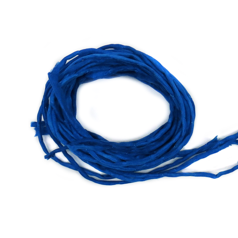 "Silk Cord, Royal Blue, 39"" Long; 1 piece"