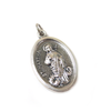 Saint Martha Italian Charm, Antique Silver, 25x16mm - 1 piece