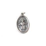 Holy Child of Atocha Italian Charm, Antique Silver, 25x16mm - 1 piece
