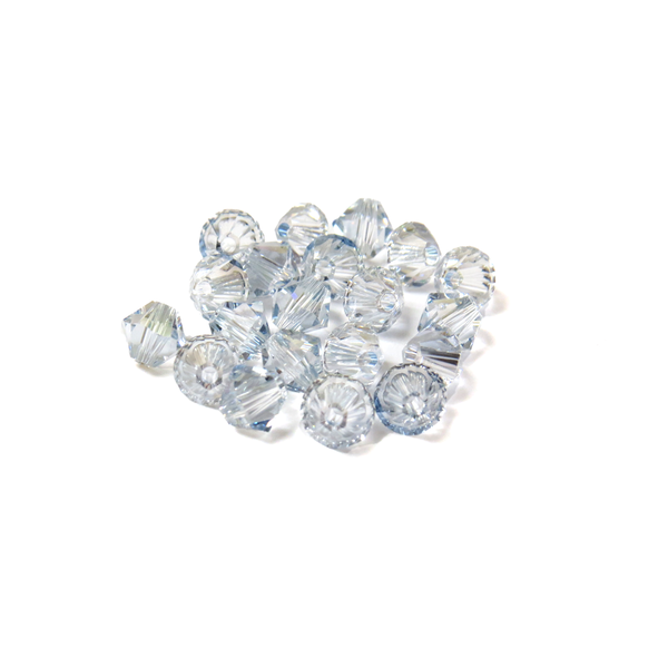 Swarovski Crystal, Bicone, 5MM - Shadow Crystal AB; 20pcs