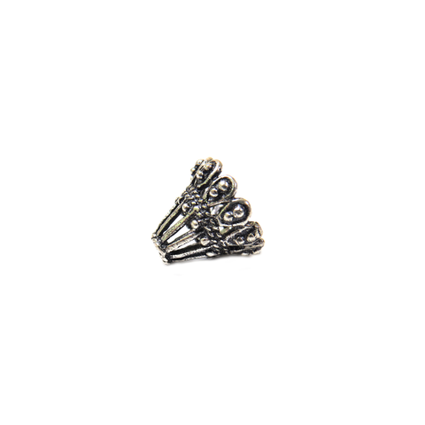 Large Fancy Cone Shaped End Cap, Sterling Silver, 10x11mm - 1 piece