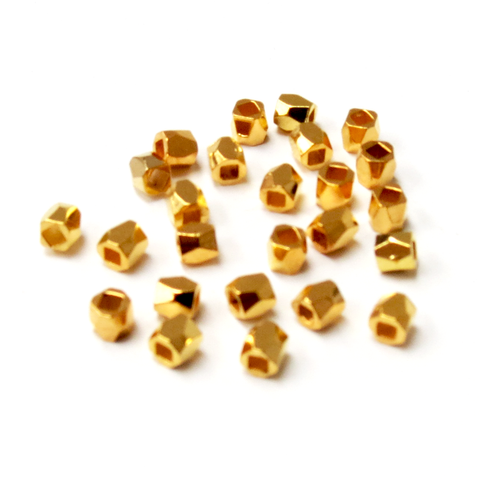 Cube Spacer Bead Faceted- 3mm; 25pcs