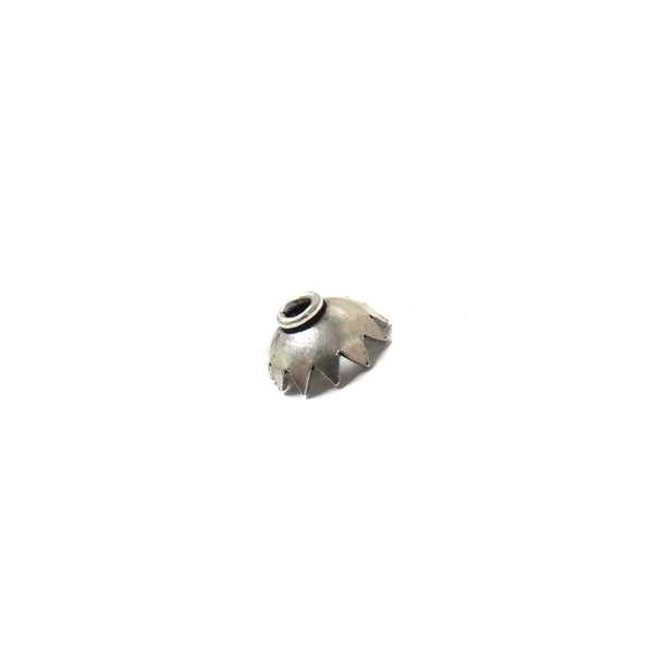 Single End Cap, Sterling Silver, 8x4mm - 1 piece