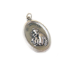 Saint Anthony Italian Charm, Antique Silver, 25x16mm - 1 piece