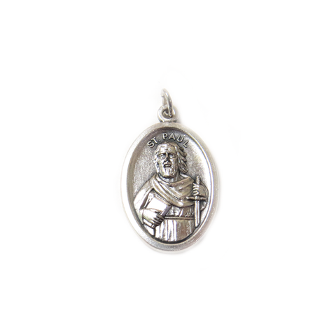 Saint Paul Italian Charm, Antique Silver, 25x16mm - 1 piece