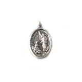 Saint Raphael Italian Charm, Antique Silver, 25x16mm - 1 piece