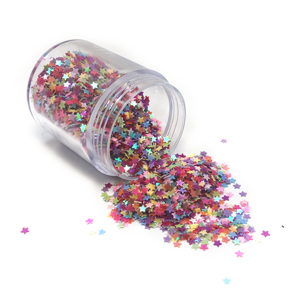 Star Shaped Glitter- Multi-Color; 12 grams