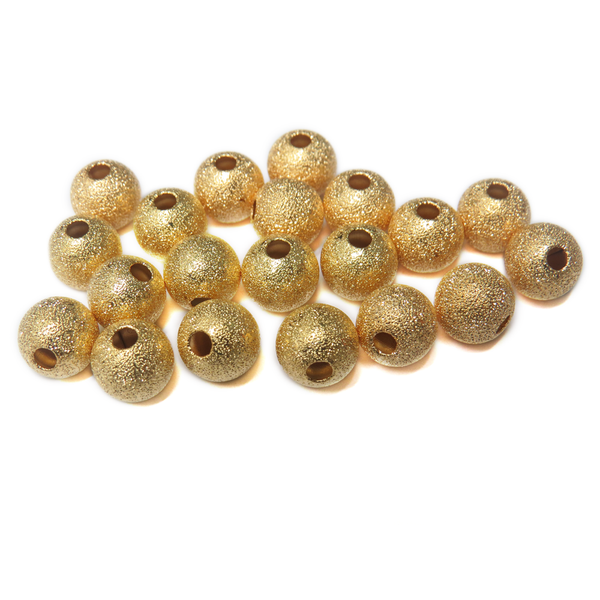 Stardust Spacer Beads, Gold- 10mm; 10pcs