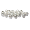 Stardust Spacer Beads, Silver-10mm; 20pcs