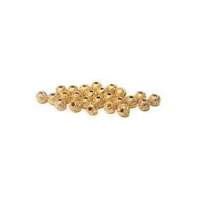 Stardust Spacer Beads, Gold-4mm; 25pcs