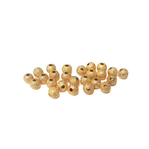 Stardust Spacer Bead, Gold Plated-6mm; 25pcs