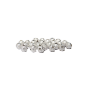 Stardust Spacer Bead, Silver Plated-6mm; 25pcs