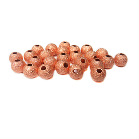 Stardust Spacer Beads, Copper-8mm; 25pcs