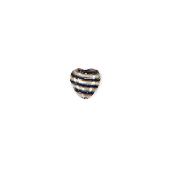 Heart Spacer, Sterling Silver, 10x10mm; 1 piece