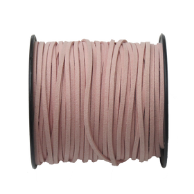 Suede Cord, 3mm- Light Pink; per yard