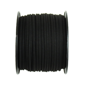 Suede Cord, 3mm-Black; per yard