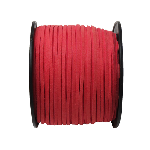 Suede Cord, 3mm-Coral; per yard