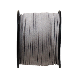 Suede Cord, 3mm-Gray; per yard