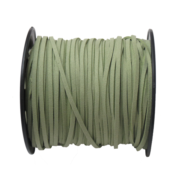 Suede Cord, 3mm-Green; per yard
