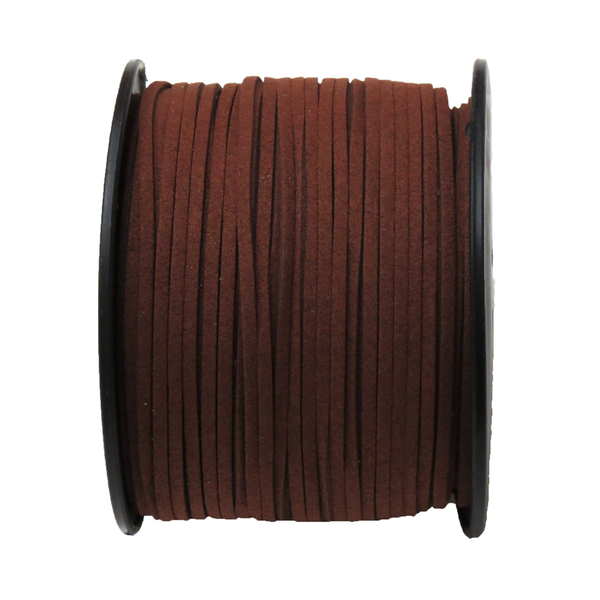 Suede Cord, 3mm- Brown; per yard