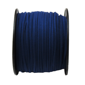Suede Cord, 3mm- Navy Blue; per yard