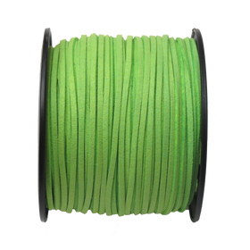 Suede Cord, 3mm-Neon Green; per yard