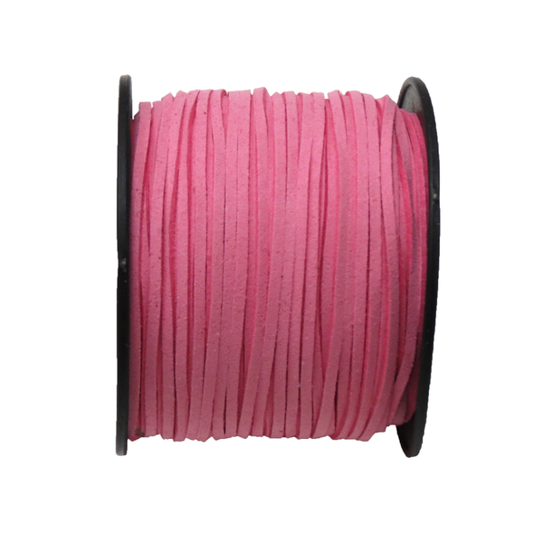 Suede Cord, 3mm- Pink; per yard