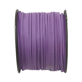 Suede Cord, 3mm-Purple; per yard