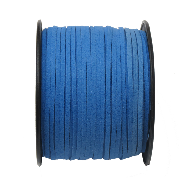 Suede Cord, 3mm-Royal Blue; per yard