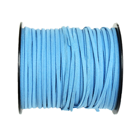 Suede Cord, 3mm-Blue; per yard